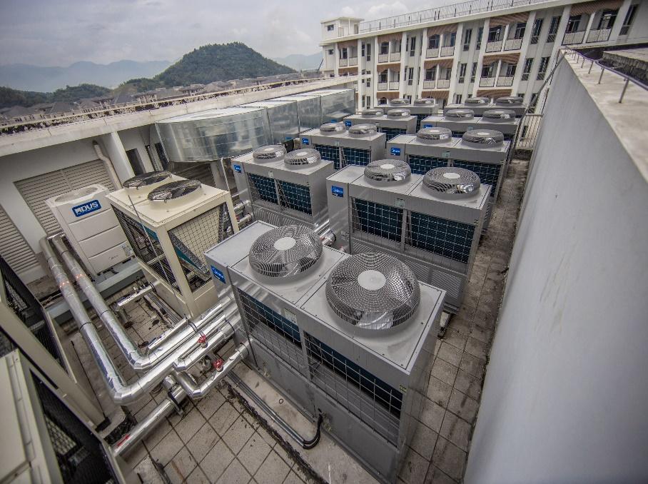 潍坊小区别墅住宅空气能地暖空调-潍坊空气源工程安装公司